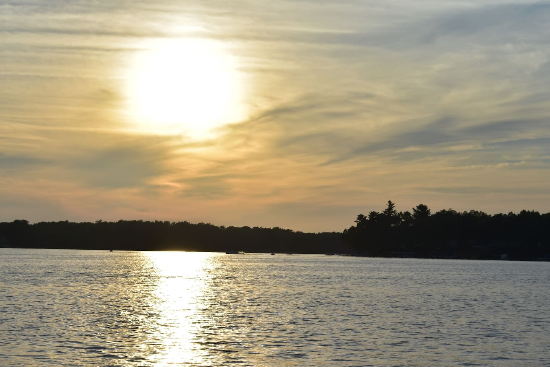 Catch a breathtaking sunset on Brooks Lake