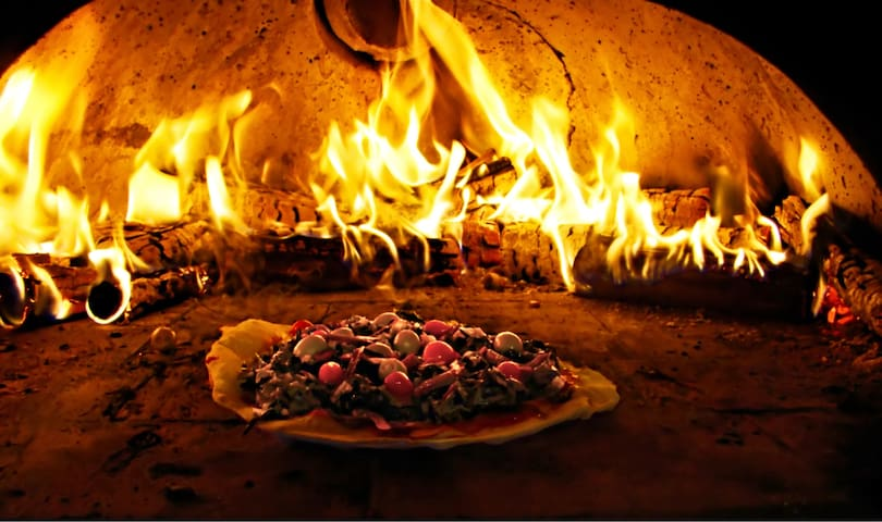 Most nights we offer fresh wood fired pizza.