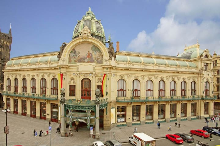 Listen the best of Smetana and Shopen  in the Municipal house  - only 5 min walk from the apartment