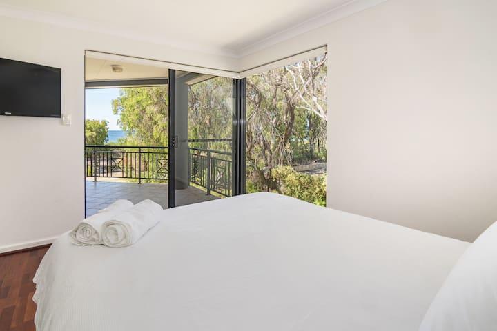 Master Bedroom, Ocean View from  your Queen Bed.