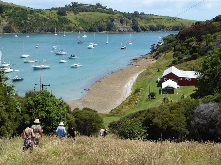 Old Red Barn at Matiatia, Oneroa on Waiheke