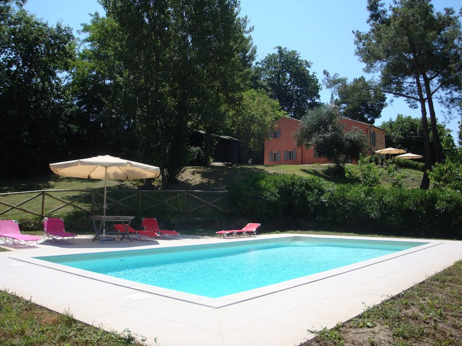 Large private pool 5/10m.