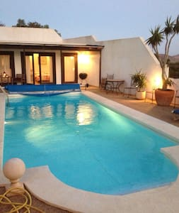 Villa with Pool House &Heated Pool -  nazaret, teguise