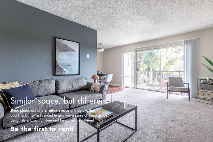 Equipped Mountain View 1BR w/ Pool, Gym, BBQ by Blueground