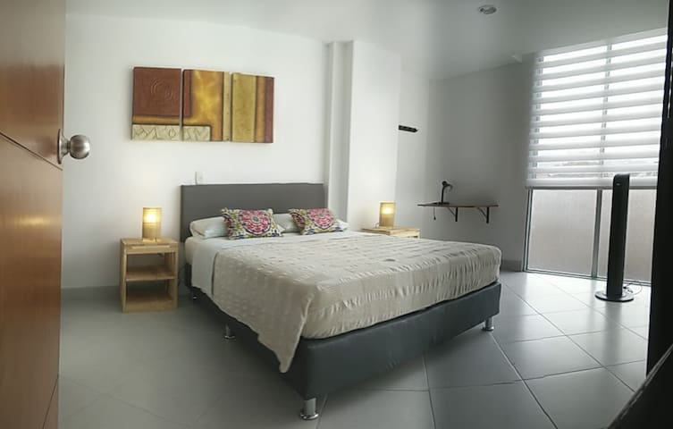 Private bedroom double bed+ Bathroom :D nice