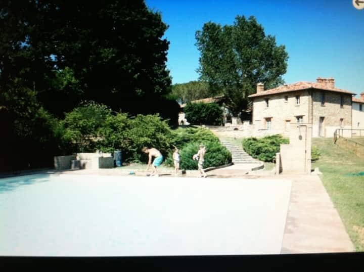 Converted barn on private estate, shared pool