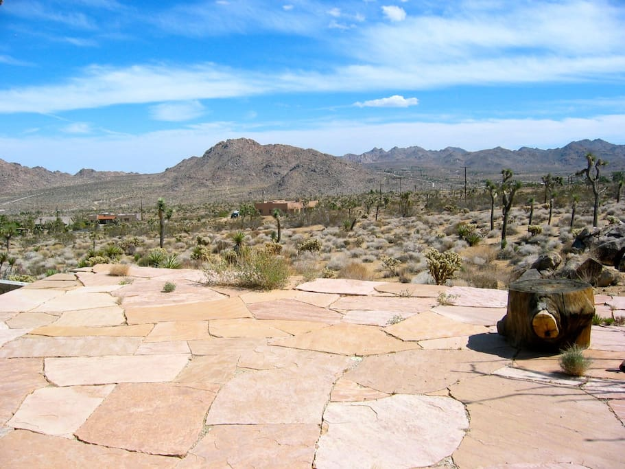 Huge Arizona Flagstone Patio for taking in the views
