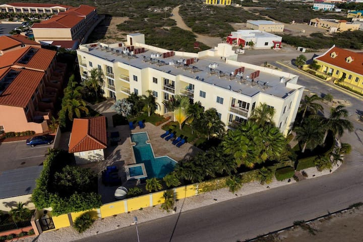Aerial view of Sunset Residence.