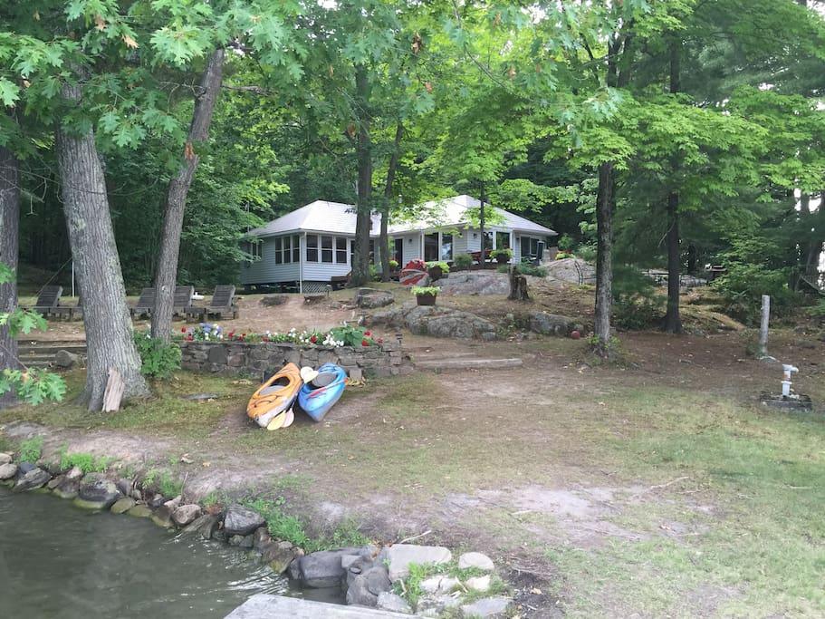 4 bedroom six mile lake getaway cabins for rent in for Georgian bay cabin rentals