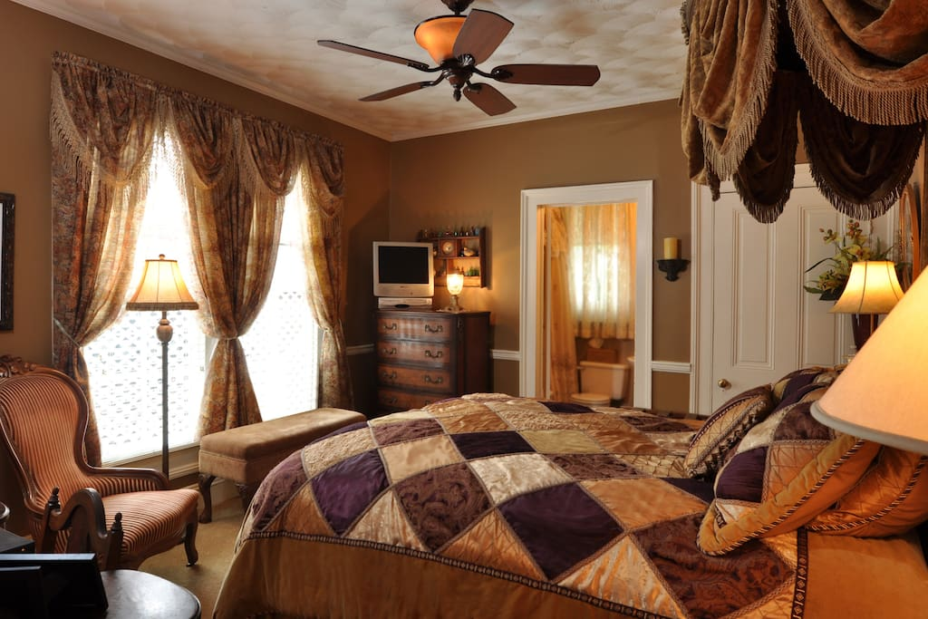 Tasteful appointments and refined decorative treatments make this quaint, warm-hued room one of our most popular. A smaller room, but delightful in every way.