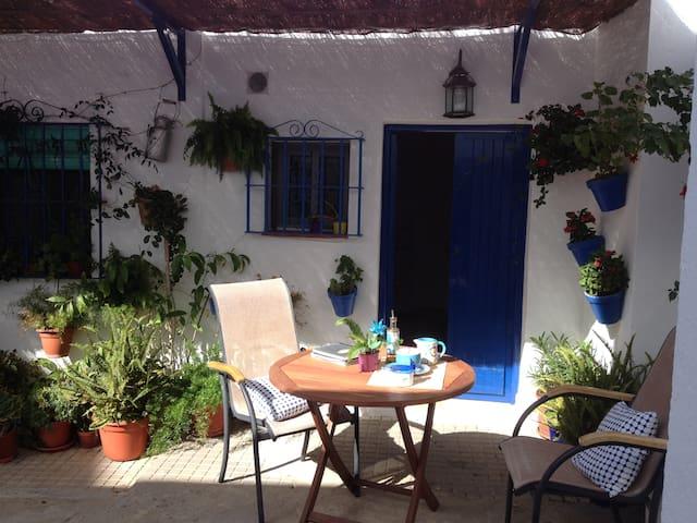 Casita azul en patio andaluz. - Conil de la Frontera - Apartamento