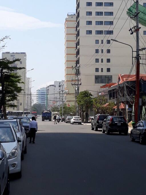 From Tran Bach Dang street