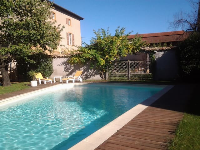 Authentic French House with a pool