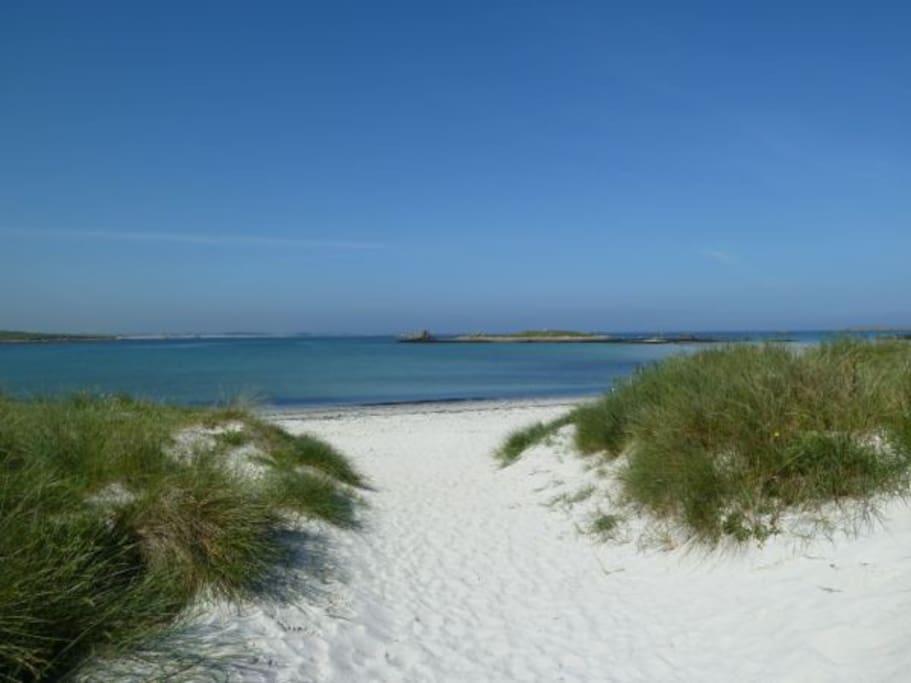 sable blanc des dunes de Sainte Marguerite