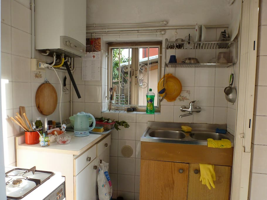 The little kitchen: you will maybe share it with other people, so it is important to let it as you found it!