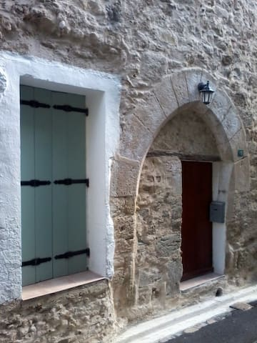 Medieval stone village house in historic circulade
