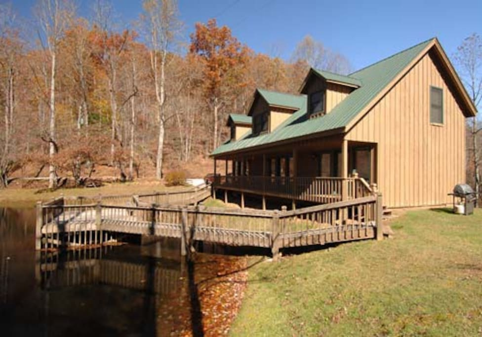 Our lodge sits on the water and has 3 suites including Fisherman's Cove