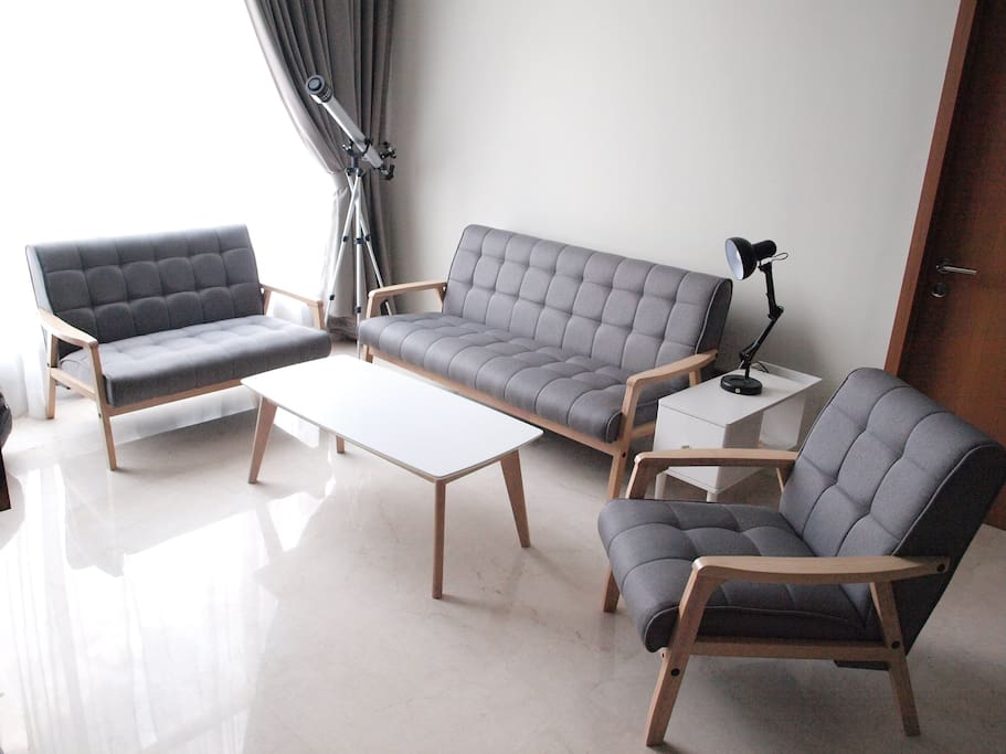 Living Hall: Retro and contemporary furniture