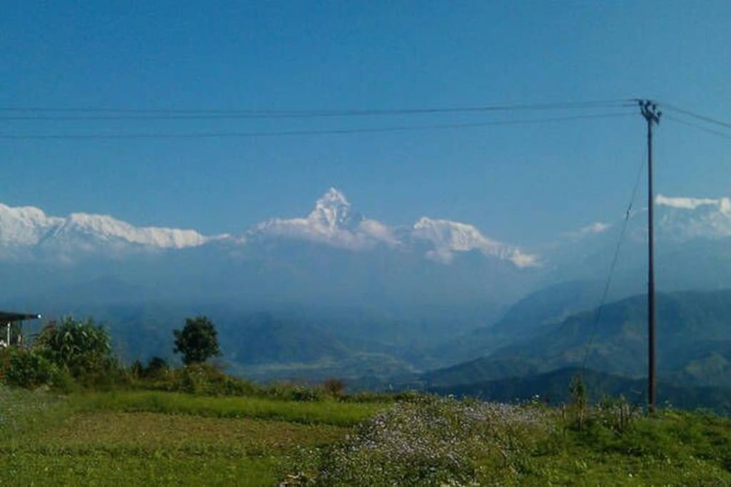 View of Annapurna Himalayan range from  one of the bed room  window.