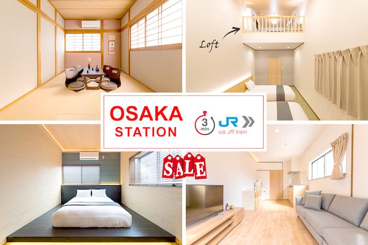 OPEN SALE/Osaka St 3min 大阪站3分/CarPark/Sta 4m Walk
