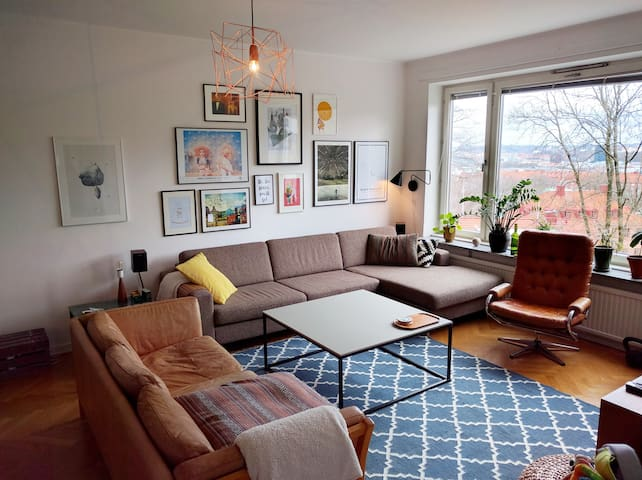 Central but quiet 3BR with a great view - Gothenburg - Apartment