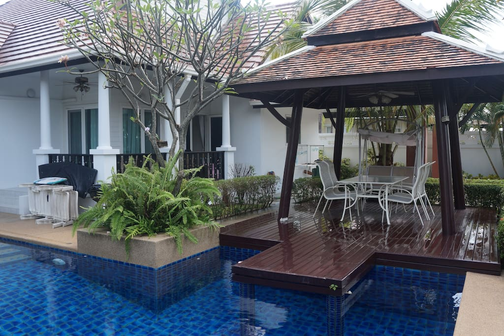 House , pool and gazebo