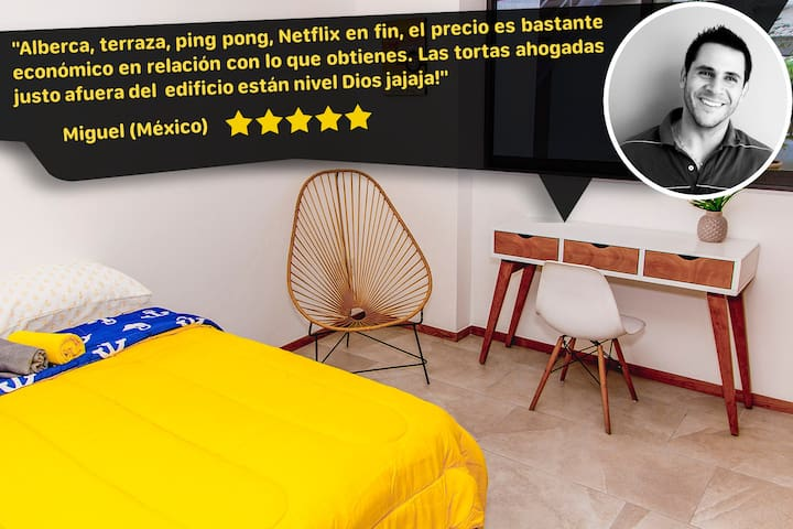 Dodo Room⭐/2 persons/POOL❤️/ROOFTOP/Trendy