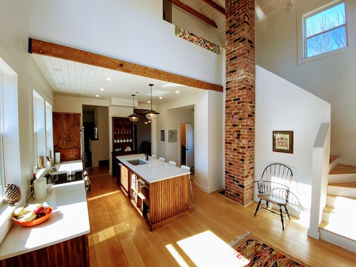 Renovated Historic Farmhouse with River Views.
