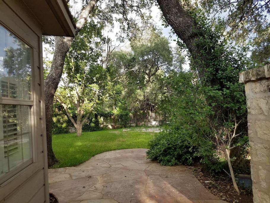 Beautiful side yard