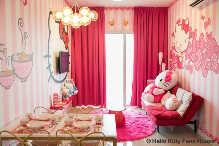 HELLO KITTY FANS HOUSE★Mid Valley 5min★WiFi 100mps