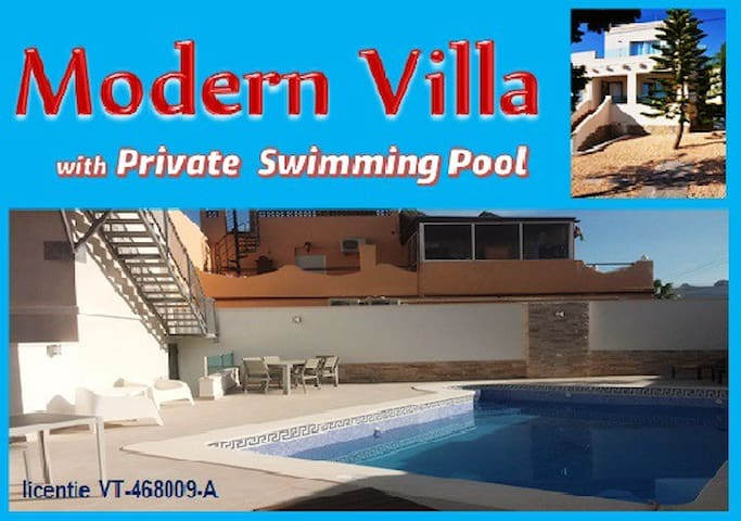 Modern villa with private pool (heated in option)