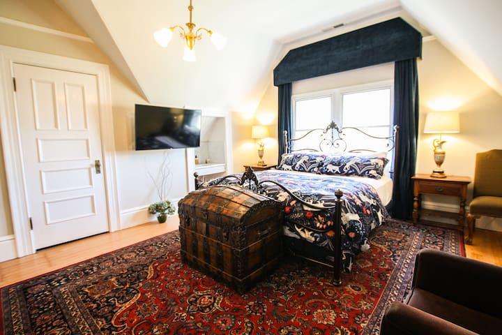 Treasure bedroom with bathroom in iconic victorian