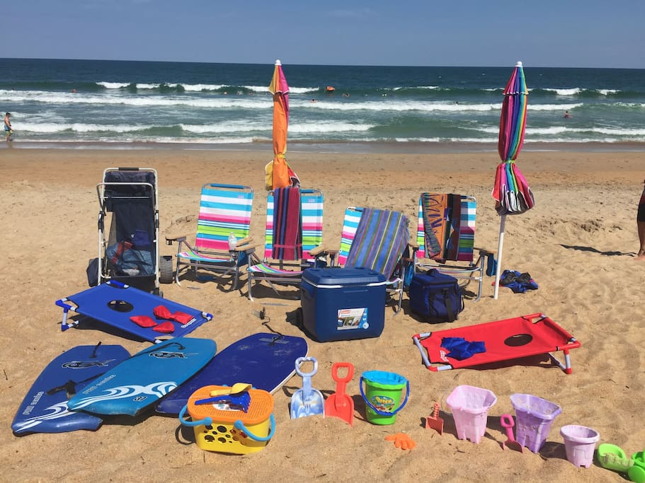 Beach equipment for guests!