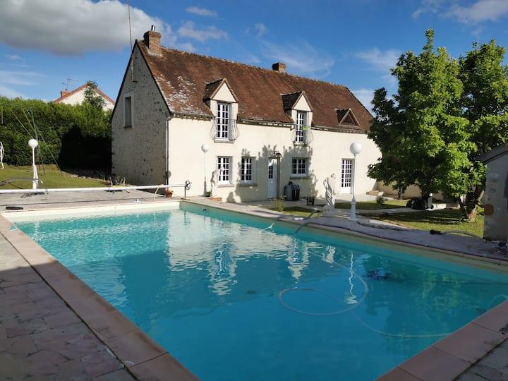 gîte l'insouciance maison de campagne avec piscine