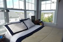 Enjoy beautiful natural light and a view of the mountains to the west.