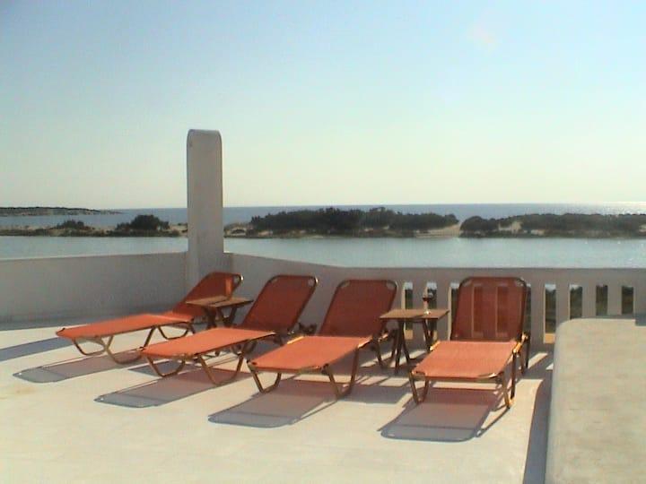Naxos Waterfront Villa with Pool