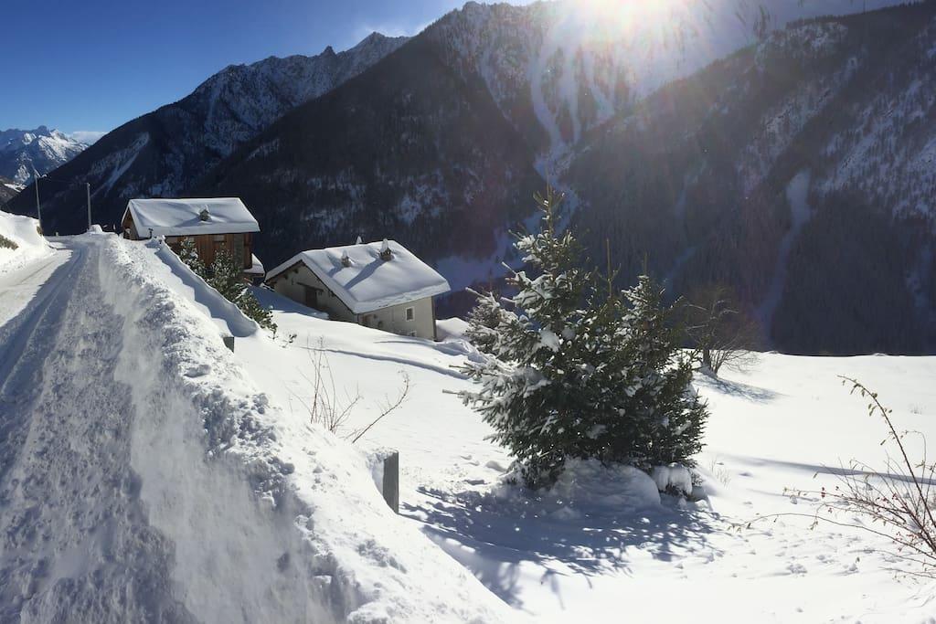Il villaggio in inverno