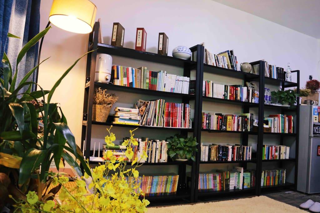 书架上会有好多你会喜欢的书
