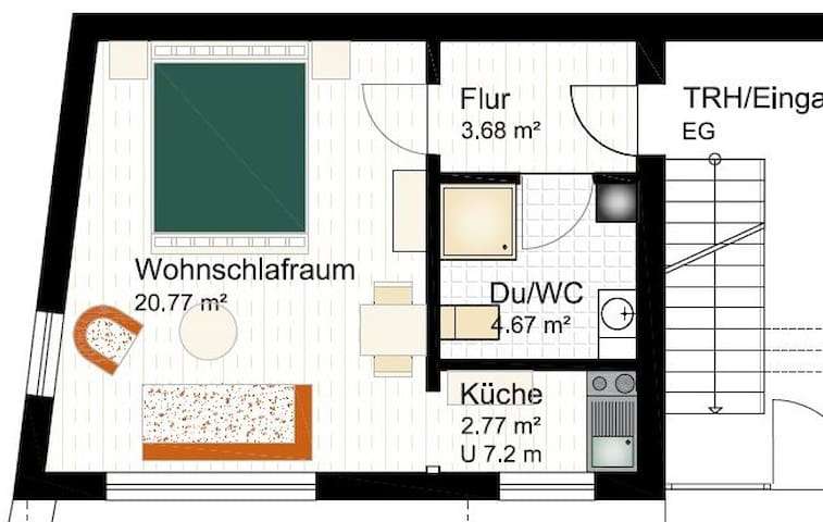 1 Zimmerappartement in Altstadt Oppenheim - Oppenheim - Appartement