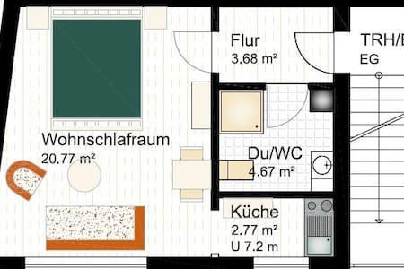 1 Zimmerappartement in Altstadt Oppenheim - Oppenheim - Lägenhet