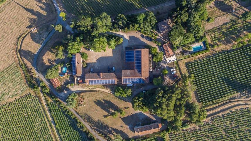 Maison à la campagne avec piscine privée
