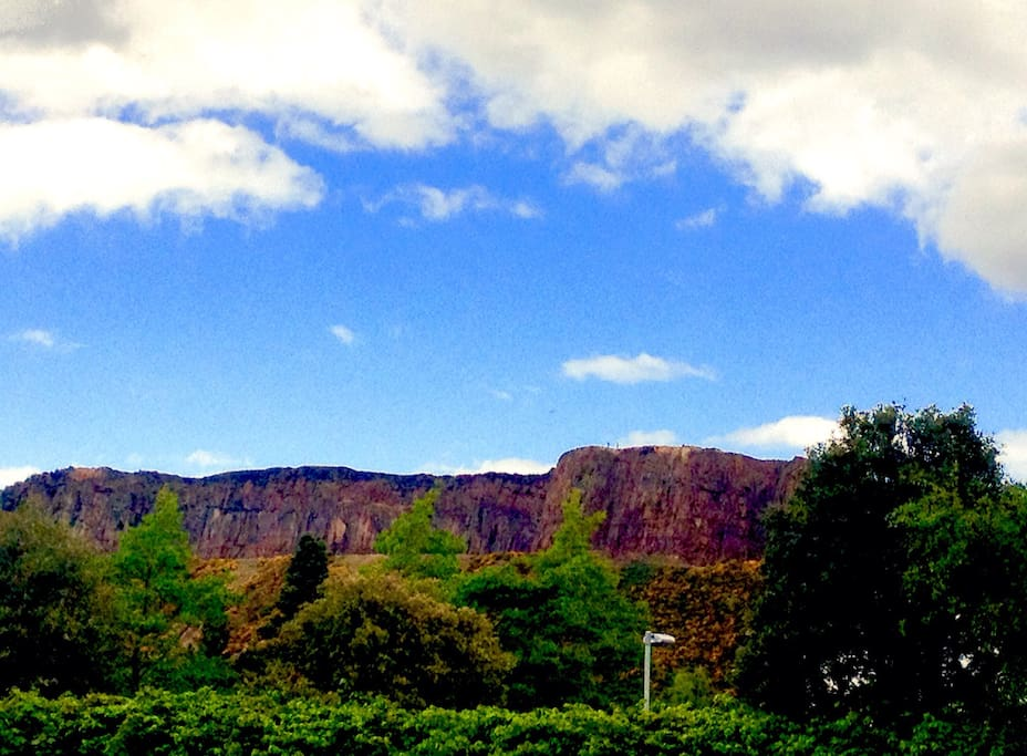 The famous Arthurs Seat view facing the North side of the flat.
