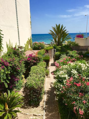 1 bedroom waterfront and private garden Palm Beach - Cannes - Lägenhet
