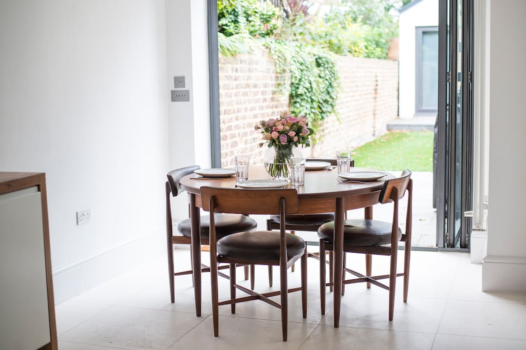Dining area next to Bi-fold doors leading to the garden