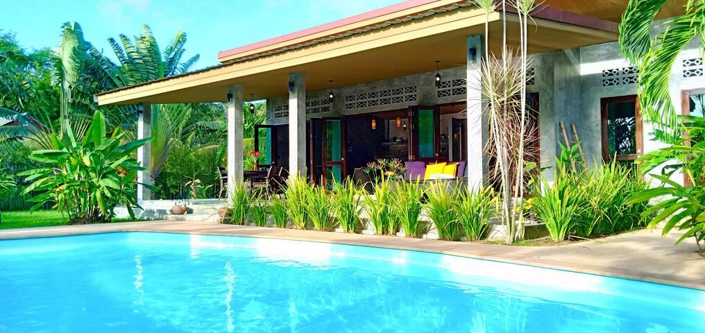 Unique design loft pool villa