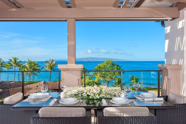 Private Panoramic Ocean Front View Terrace with Viking Grill, Alfresco Dining