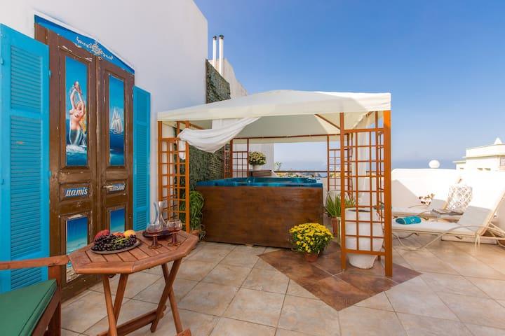 Mamis, Solarium Terrace & Jacuzzi! - Rethymno - Huis