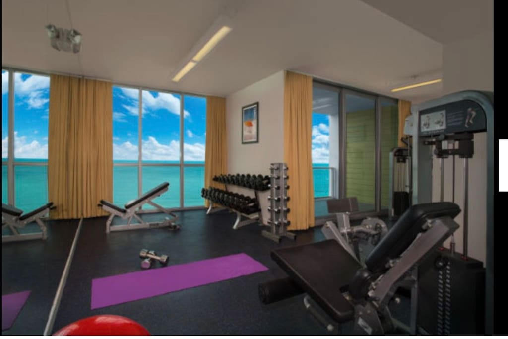Water view gym