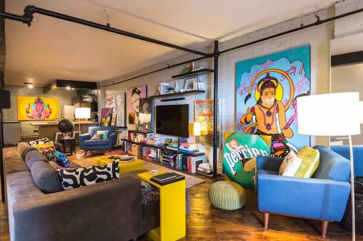 Unique NYC Loft - Guest Room