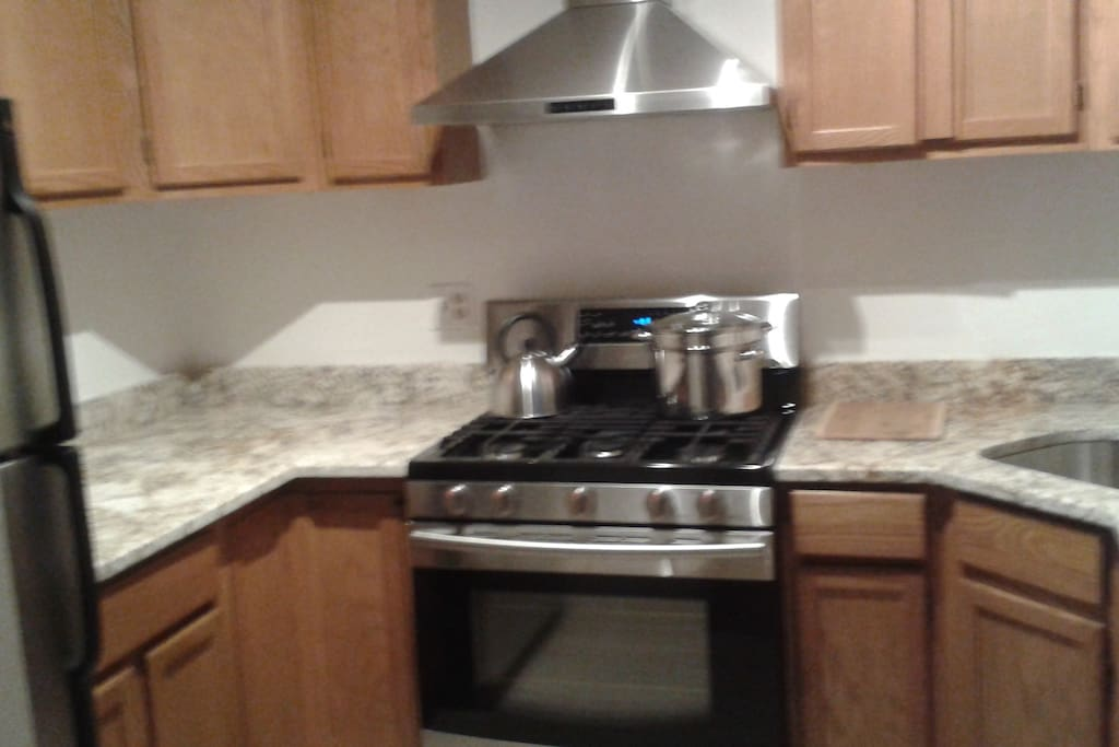 Kitchen clean & comfortably equipped